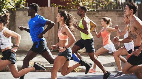 Gruppe von Läufern beim Training.
