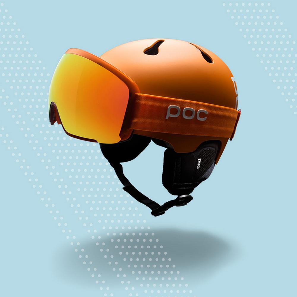 Skibrillen und Helme