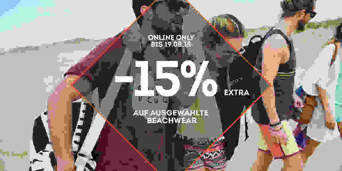 -15% extra auf ausgewählte Beachwear