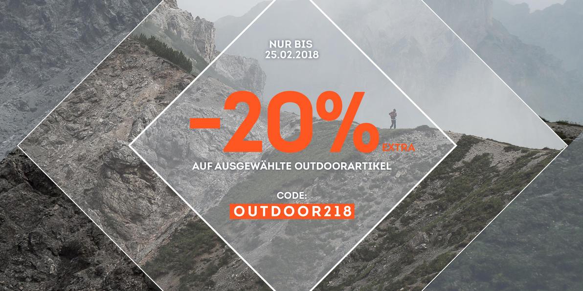 20% extra auf ausgewählte Outdoorartikel