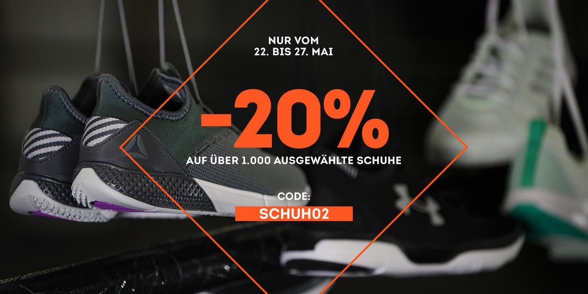 20% extra auf ausgewählte Schuhe