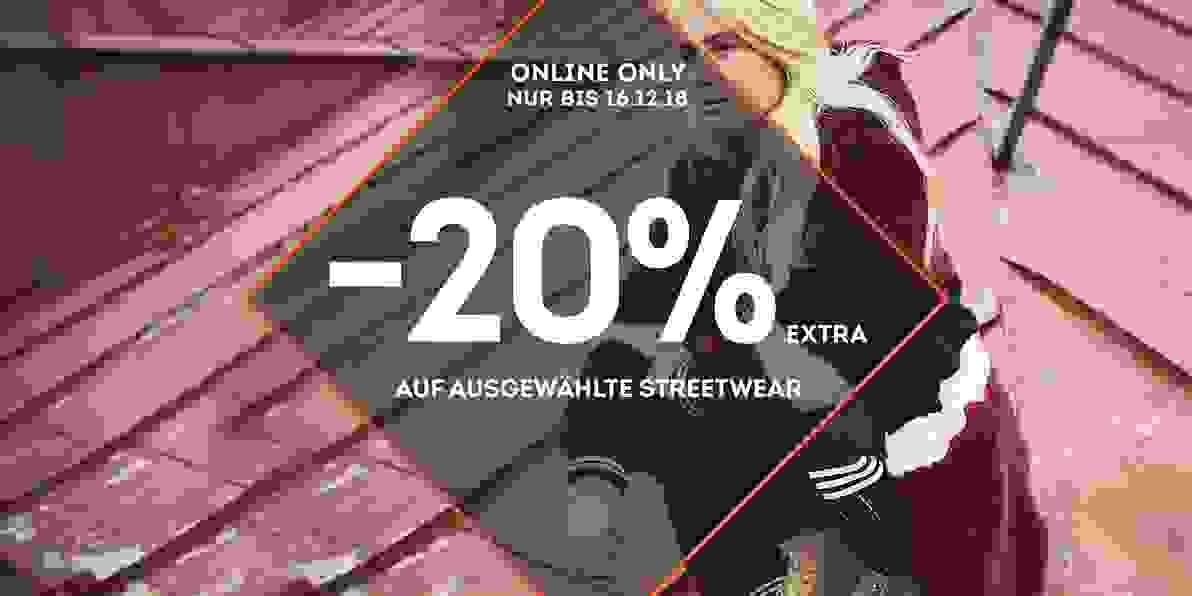 -20% auf ausgewählte Streetwear
