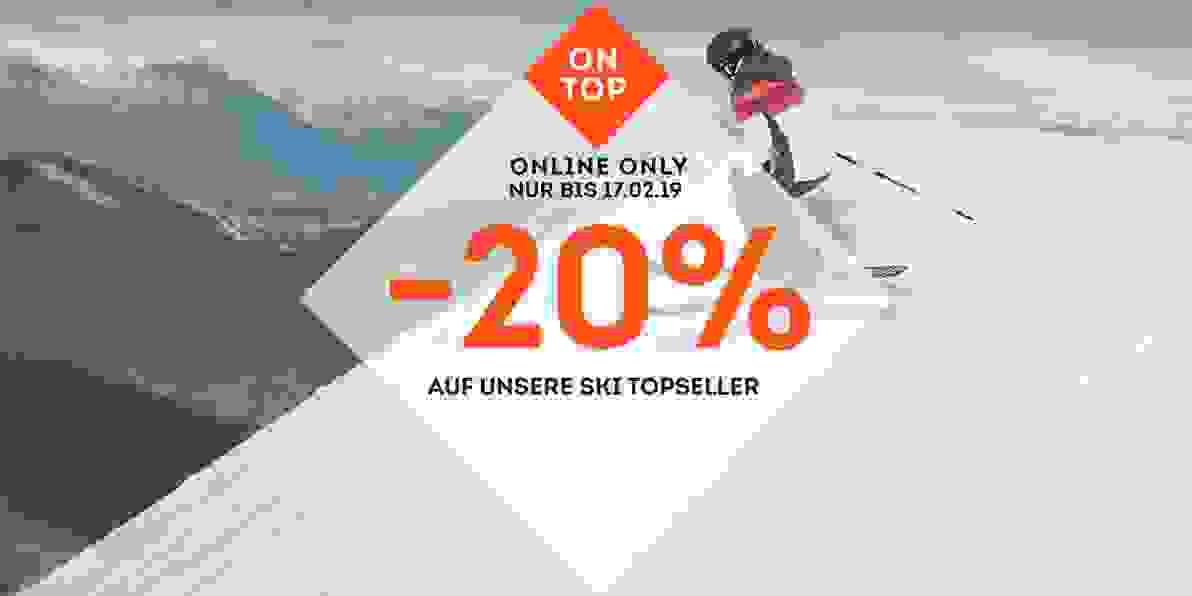 20 Prozent auf Ski Topseller