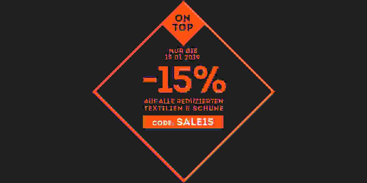 Sale 15% extra auf Fußballschuhe & Kleidung