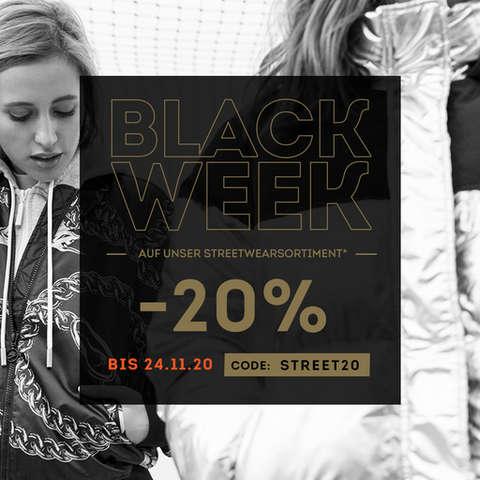 Black Week - 20% auf unser Streetwearsortiment