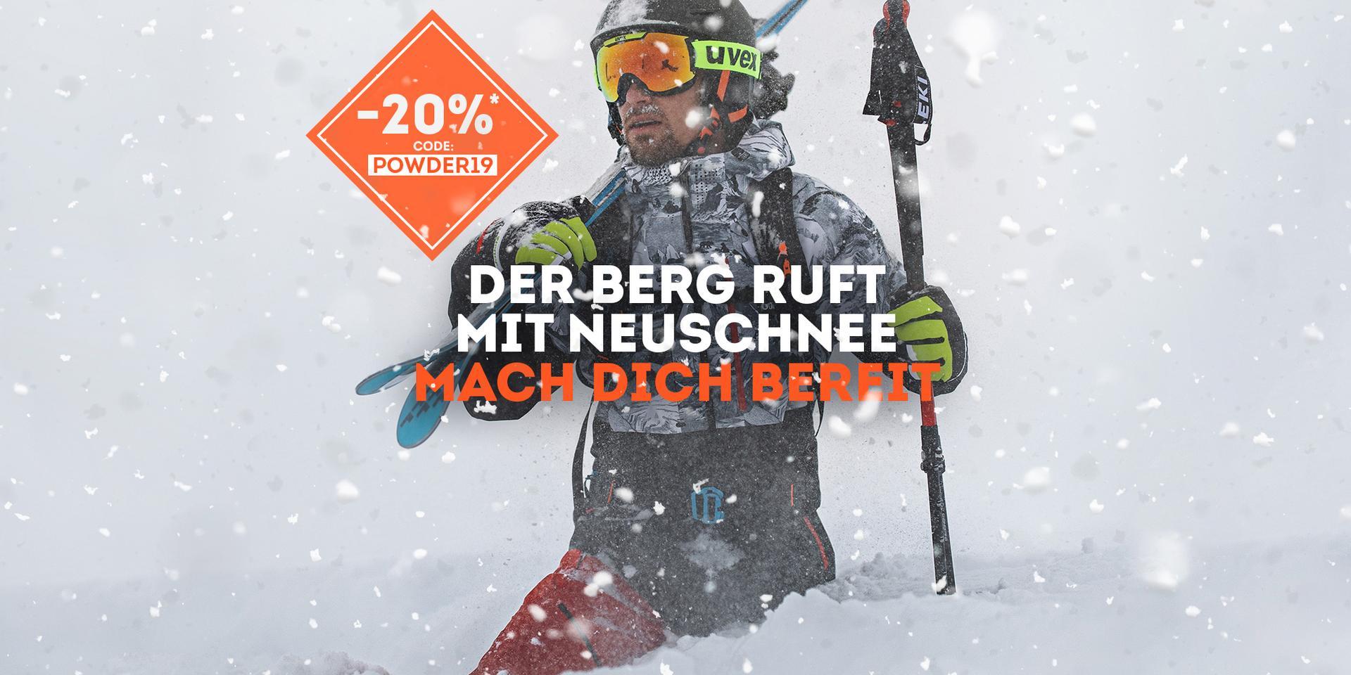 -20% auf nicht reduzierte Wintersportartikel