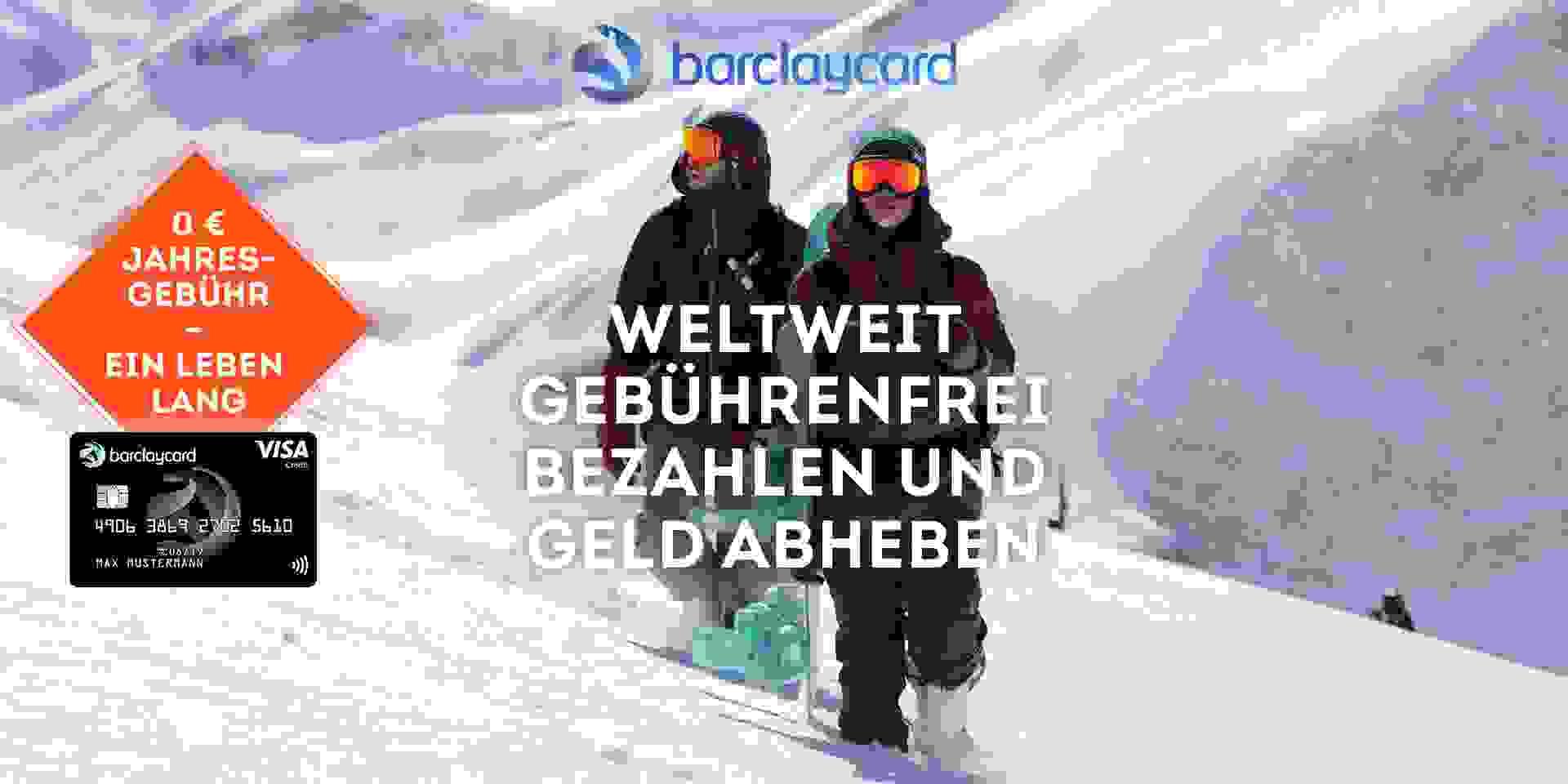Barcleycard - weltweit gebührenfrei bezahlen und Geld abheben