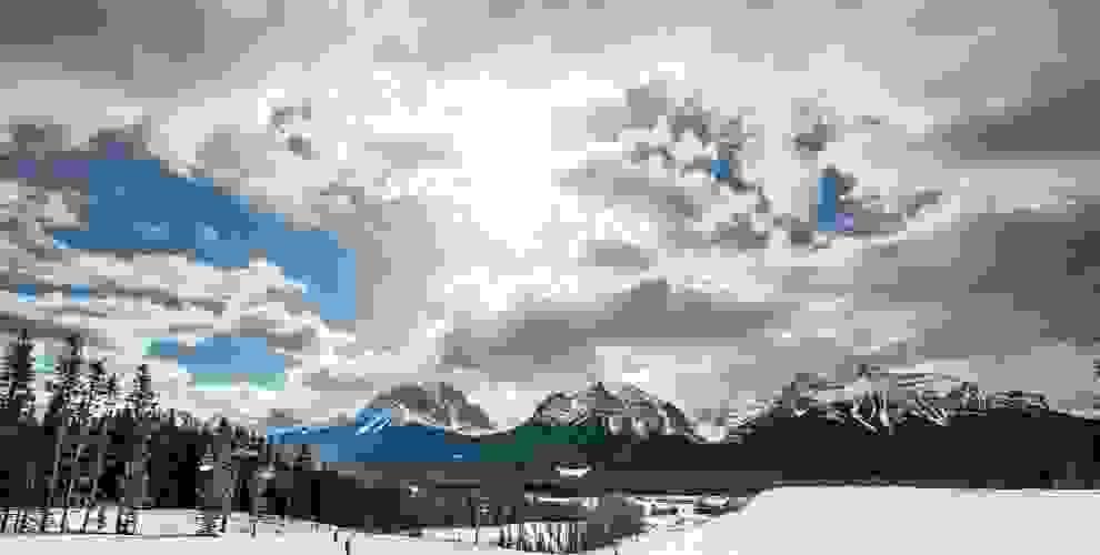 Ein Skigelände in Albert Kanada.