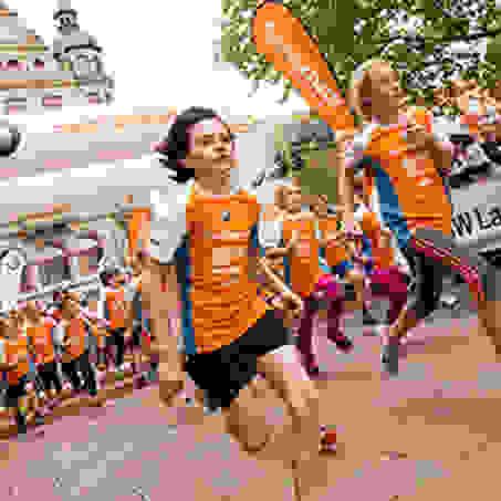 Kurz nach dem Start des Kids Runs beim Stadtlauf Braunschweig.