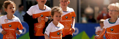 Auch beim Stadtlauf Frankfurt sind viele Kinder am Start.