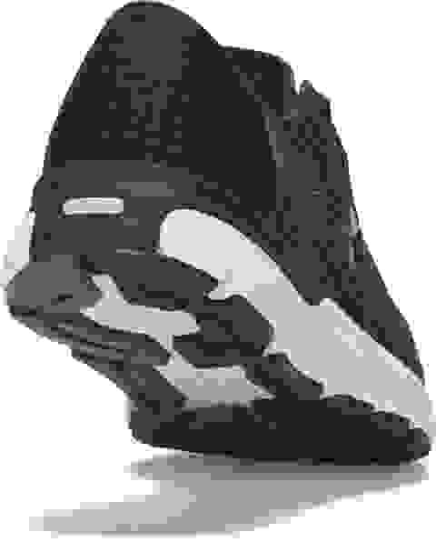 Aufnahme eines Schuhs von Hinten mit UA-Speedform Technologie.