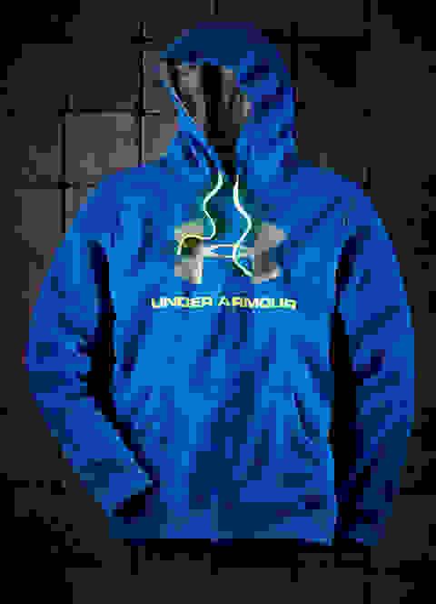 Under Armour Hoodie in Blau mit Storm Technologie