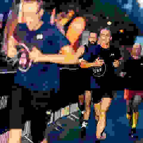 Teilnehmer des SportScheck Runs Erfurt während des Runs.