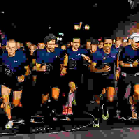 Teilnehmer des SportScheck Runs Hannover während des Runs.