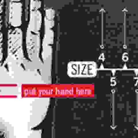 Eine Grafik aus der die verschiedenen Reusch Handschuhgrößen hervorgehen.