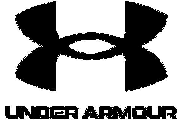 Das Logo von Under Armour in Weiß auf Rotem Grund.