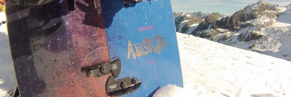 Ein Teilausschnitt eines Splitboards.