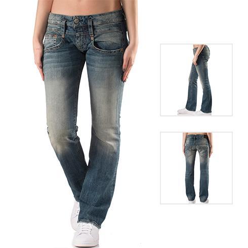 Damen Jeans, Straight Fit, grey
